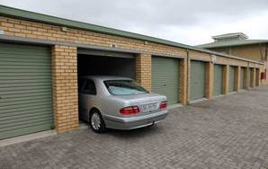 Large self storage with car